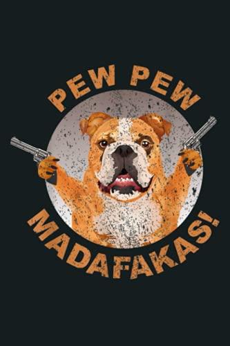 Pew Pew Madafakas Crazy French Bulldog Funny Gamer Gift: Notebook Planner -...