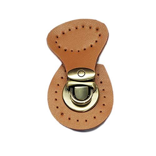 MYBOON imitación Cuero botón magnético Bloqueo Bolsa Cierre a presión Hebilla Broche Bricolaje reemplazo Bolsa de Cuero Hebilla Amarillo Tierra