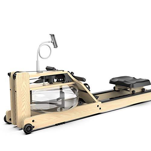PUCHIKA Rudergerät Klappbar mit Leises Magnetbremssystem aus Holz, mit Wasserwiderstand für Zuhause, Rudermaschine mit Video Fitness.