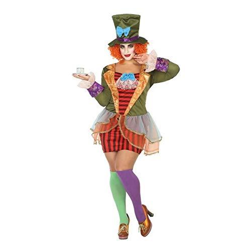 Atosa-63541 Atosa-63541-Disfraz Sombrerera Loca-Adulto XXL- Mujer, Multicolor, (63541) , color/modelo surtido