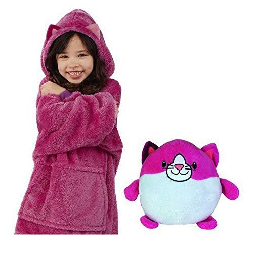 Huggle Pets Animal Hoodie,Huggle Pets Hoodie Dinosaur Hooded Sweatshirt Warm Winter Hooded Coats Bathrobe Fleece Pullover For Children For (Rojo)