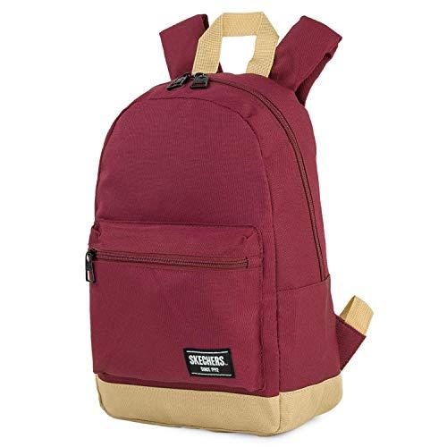 SKECHERS - Unisex-Rucksack für Erwachsene mit Ipad-Tablett in der Innentasche Ideal für den täglichen Gebrauch Bequeme Versáti S938, Color Granat-Arena