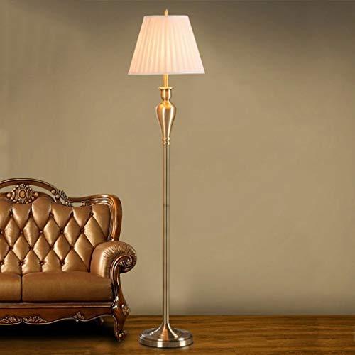 CLJ-LJ Led Stehleuchte, Wohnzimmer Stehlampe, kreative einfache Moderne amerikanische Retro-Stil Eye-Pflege Vertikal-Fußboden-Licht