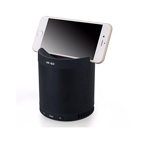 Caixa de som Bluetooth USB SD Aux MP3 com suporte para celular NewBlack Preta