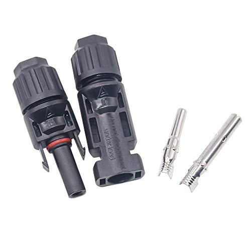 ELECTRONIC-MEI 10 paar MC4 stekkers en stopcontact, zonnepaneel MC4 gebruikt voor zonnekabels 2.5mm2 4mm2 6mm2