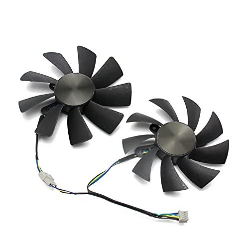 87mm GA92S2H 100mm GAA8S2H GAA8S2U 4Pin Fan del Enfriador para Zotac GTX 1060 1070 TI Mini HA 1080 TI Tarjeta gráfica Dual Fan de enfriamiento (Blade Color : 2PCS)