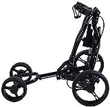 Carrito de golf de 4 ruedas Alquiler de carrito de golf ligero plegable de 6.5 kg que mejora el almacenamiento de movilidad sin esfuerzo para la oficina en el hogar al aire libre (solo un carrito de g