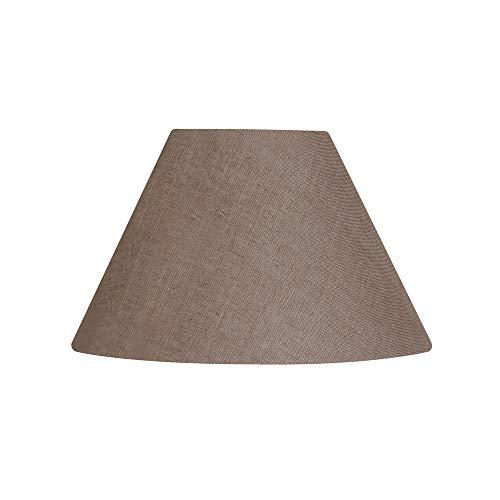 Oaks Lighting Lampenschirm, Leinen, kegelförmig, Mokka