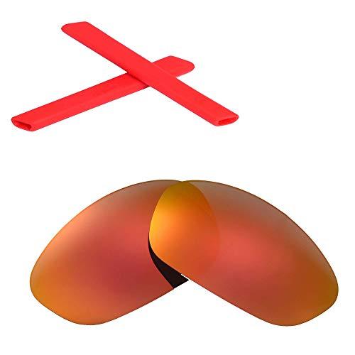 Walleva vervangende lenzen of lenzen + oorsokken voor Oakley rechte jas zonnebril - meerdere opties beschikbaar