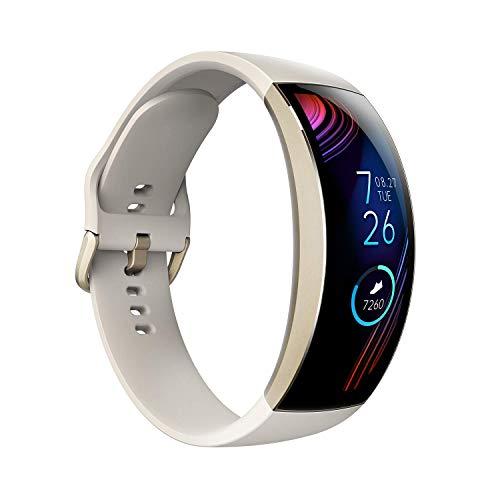 Amazfit X Smartwatch 2,07-Zoll-HD AMOLED 3D Touch-Display Fitness Armbanduhr mit automatischer Sporterkennung, SpO2-Sensor, Herzfrequenzmessung, 5 ATM wasserdicht für Damen Herren