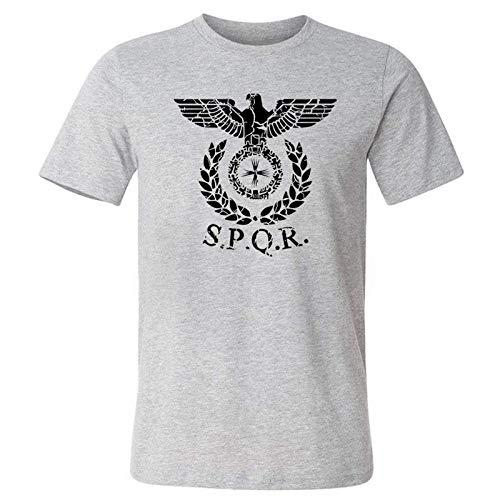 Men T-Shirt SPQR Roman Gladiator Imperial Golden Eagle Summer T Shirt Mens Casual Short O-Neck T-Shirts Harajuku Tops Tees