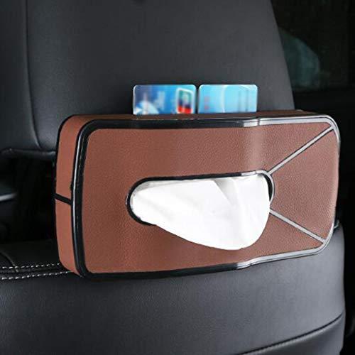 Zhangapn1 Multifunctionele autotissue-box, pompen, met gleuf voor kaarten, auto, armleuningen, creatief, houder, papier, 24,4 x 11,5 x 4 cm