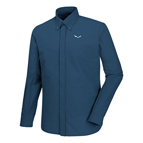Salewa Agner DST Engineered M L/S SRT, Outdoor Hemd Herren, Herren, Agner DST Engineered M L/S SRT, Dark Denim, 48/M