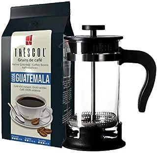 Trescol Guatemala French Press Öğütülmüş Kahve 250 Gr + 1 Litre French Press Çelik Cam Karaf