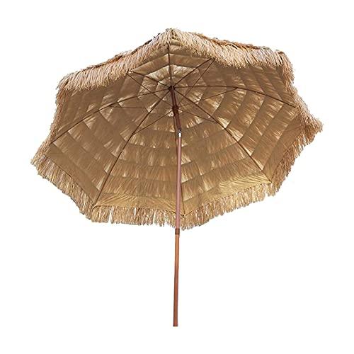 Hawaii Parasol Sombrilla, Portátil Playa Patio Sombrilla, Playa Hawaiana Paja Sombrilla, Inclinable...