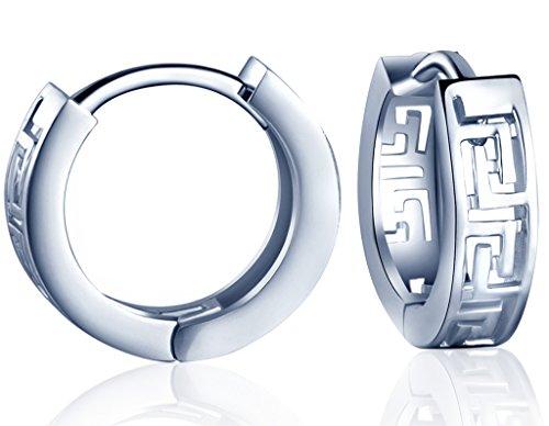 Yumilok 925 Sterling Silber Hohles Labyrinth Creolen Ohrhänger Ohrringe Hypoallergen Ohrschmuck für Damen Frauen Mädchen