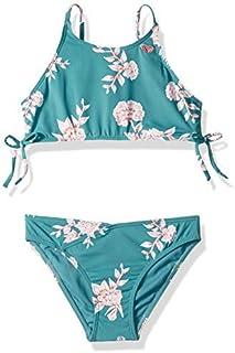 Roxy Big Girls' Magical Crop Top Swim Set Brittany Blue Sample Eglantine 7 [並行輸入品]