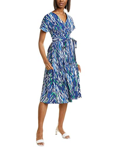 wrap dresses Maggy London Women's Abstract Geo Printed Cotton Wrap Dress