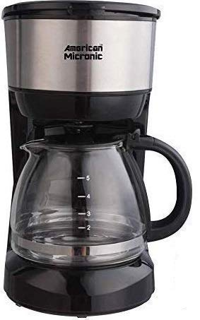 American Micronic-AMI-CM1-750Dx- Imported 6 Cups, 750ML Coffee Maker with Reusable Filter (Black & Steel)