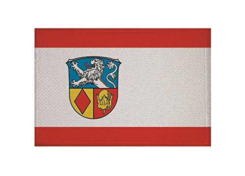 U24 Aufnäher Aßlar Fahne Flagge Aufbügler Patch 9 x 6 cm