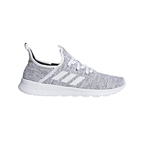 adidas Performance Women's Cloudfoam Pure Running Shoe, White/White/Black, 7.5 M US