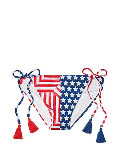 Victoria's Secret Pink Teeny String Bikini Bottom Flag Stars Stripes (Small)