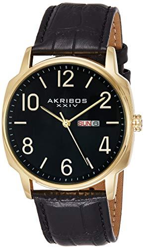 Akribos XXIV AK885YG Set Orologio da Polso al Quarzo, Analogico, Uomo, 2...