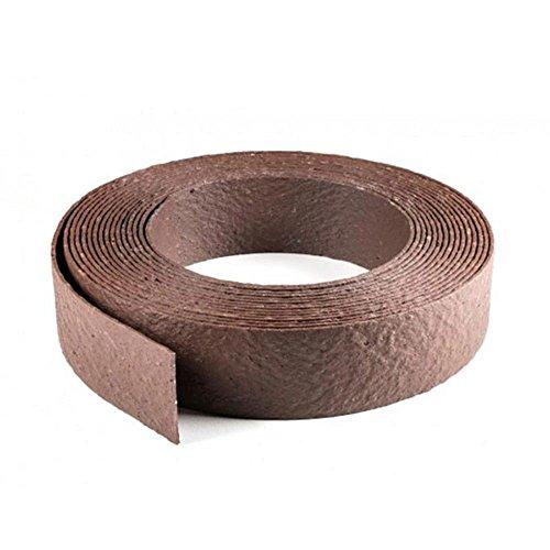 ECOLAT Rasenkante aufgerollt, 25m x 14cm x 0,7cm, in braun, Beeteinfassung aus 100% recyceltem Kunststoff