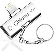 Chioeu 2in1 イヤホン充電 イヤホン変換 lightning変換コネクタ 通話機能 音楽調節 iPhoneXs/Xs max/Xr /8/8plus/7(IOS11 IOS12対応) (アルミ合金)