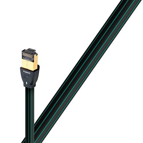 AudioQuest 0.75m RJ/E Forest - Cable de Red (0,75 m, Cat7, RJ-45, RJ-45, Negro)
