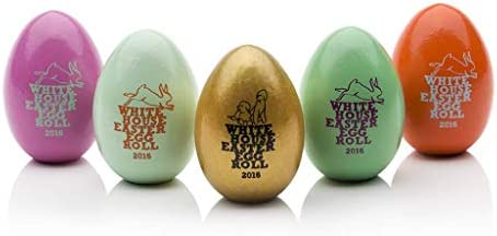 Official 2016 White House Easter Egg Set w Stamped Signatures of President Barack Obama First product image