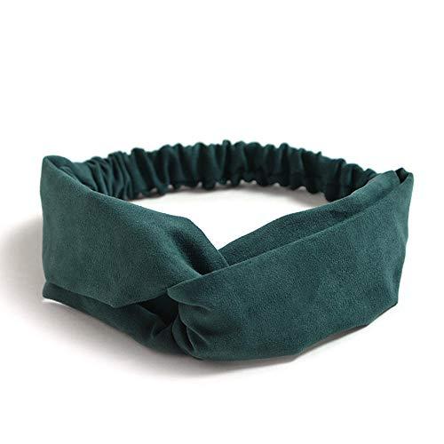 Simple Accesorios para el cabello Señora del tocado de la tela escocesa del arco de la venda turbante Headwear elástico abrigo de la cabeza Mujeres Accesorios for el cabello, Banda-7 mujeres pelo raya