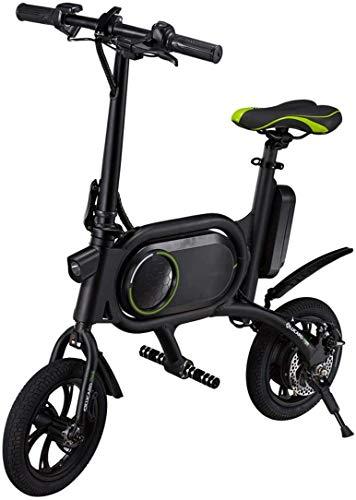 Xiaokang 12 Pulgadas Mini Coche eléctrico Plegable Doble Double Disc Freno Viaje Bicicleta eléctrica Adulto,B