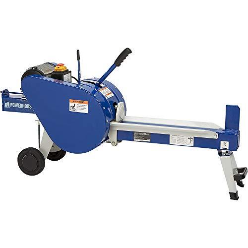 %5 OFF! Powerhorse Horizontal Double Flywheel Kinetic Electric Log Splitter - 7-Ton, 15 Amp, 120V Mo...