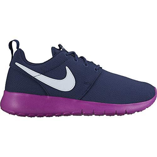 Nike 599729-407, Scarpe da Fitness Bambina, Blu Notte Viola Azul Midnight Navy Blue Tint Hyper Violet, Numeric_38_Point_5 EU