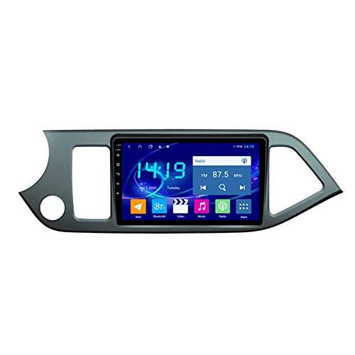 Autoradio Android 9.1 Eight-Core 9 Pollici SAT NAV per Kia Picanto 2011-2015 con Navigazione GPS Bluetooth Touch Screen WiFi Backup Camera Multimedia Player 2 GB + 32 GB