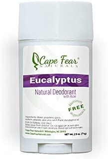 Cape Fear Naturals Eucalyptus Natural Deodorant Stick, 2.5oz Stick, Aluminum Free, Preservative Free