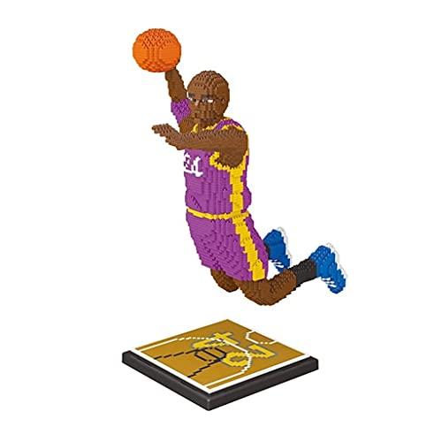 Bloques de construcción NBA Baloncesto Kobe Micro Building Blocks 3D Puzzle DIY Toys Cumpleaños creativo regalos para niños niños juguetes educativos para adultos Modelo Modelo Coleccionable 3200 PCS