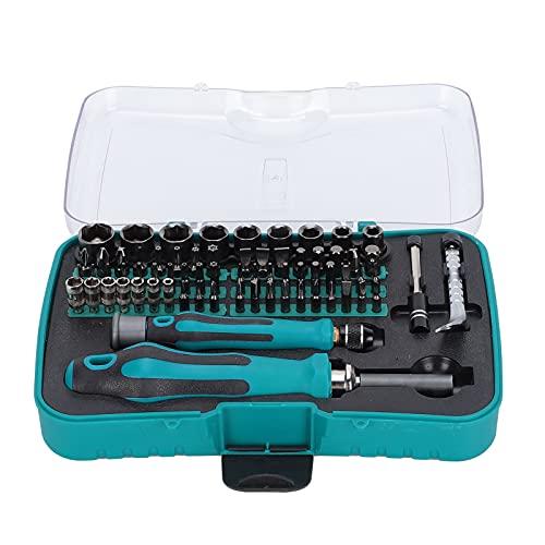 Juego de herramientas de trinquete con caja de almacenamiento, puntas de destornillador Tomas de transmisión Llave de electricista Accesorios de reparación