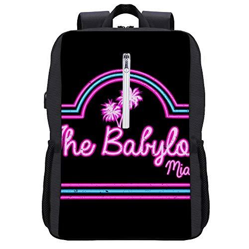 Scarface Babylon Club Miami - Mochila para portátil con puerto de carga USB