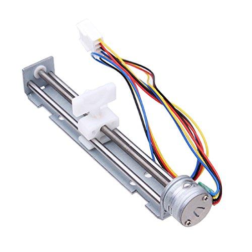 Origlam 18grados ángulo de paso motor paso a paso tornillo con tuerca Slider + 2Fase 4alambre de DC 4–9V/500mA conducción voltaje
