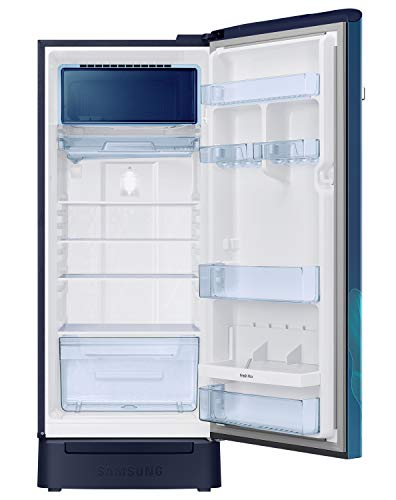 Samsung 225 L 4 Star Inverter Direct Cool Single Door Refrigerator(RR23A2F3X9U/HL, Paradise Blue, Base Stand with Drawer, Digi-Touch Cool) 3