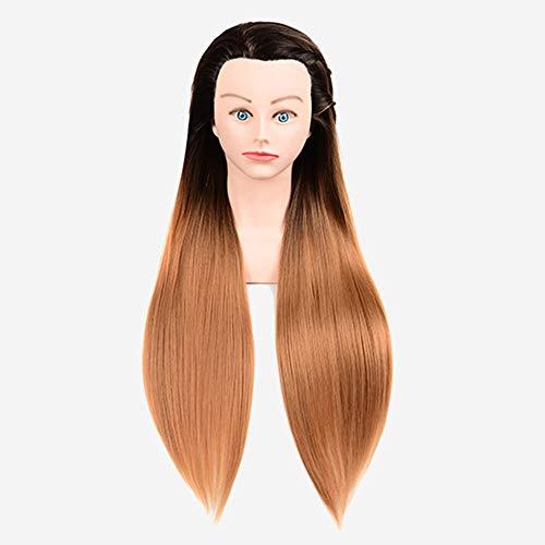Demi moule en fibre synthétique modèle de tête forme de tête modèle d'entraînement tête coiffeur tête de poupée