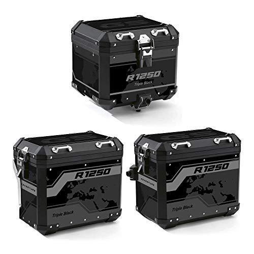 Kit de protecciones adhesivas maletas aluminio 2° modelo para BMW R 1250 GS Adventure 2021 VA2-R1250GSADV-21 (Triple Black)
