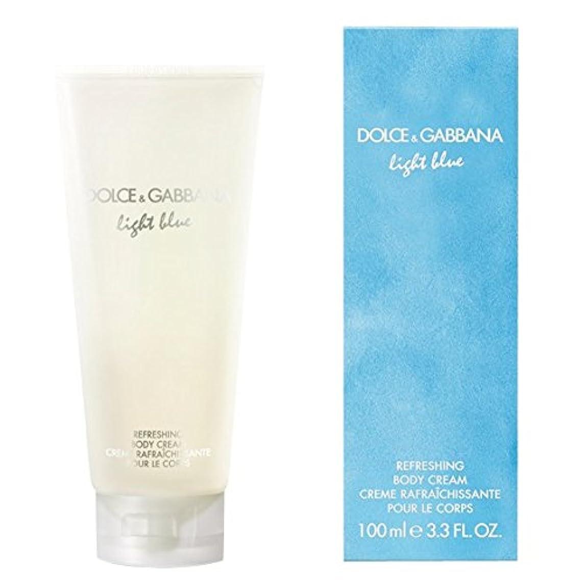 子猫おなかがすいた混乱したドルチェ&ガッバーナライトブルーの爽やかなボディクリーム200ミリリットル (Dolce & Gabbana) (x6) - Dolce & Gabbana Light Blue Refreshing Body Cream 200ml (Pack of 6) [並行輸入品]