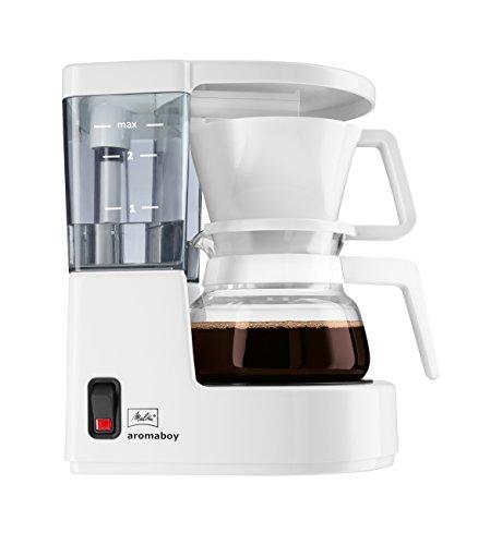 Melitta, Filterkaffeemaschine, Aromaboy, 2 Tassen-Glaskanne, Filtereinsatz, Weiß, 101501