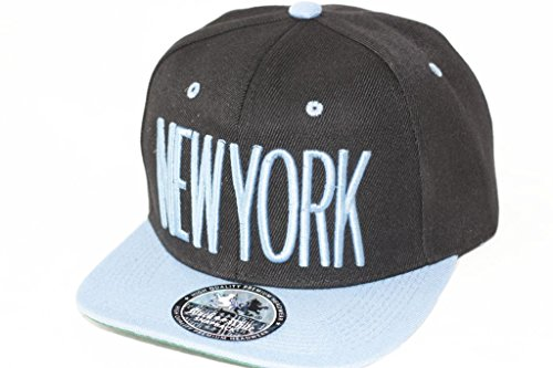 Hip Hop Casquette chapeau CITY SNAPBACK équipe ville américaine FS-413 (NEW YORK-SCHWARZ-HELLBLAU-)