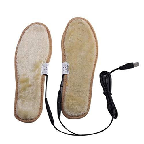 JASZHAO Elektro-USB-Stecker Beheizte Schuhe Einlagen Plüsch-Film-Heizung Warme Socken Pads Fuß Cvm,42