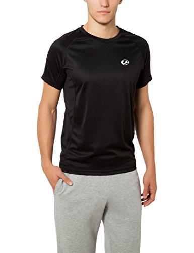 Ultrasport T-shirt technique pour homme Kugar\-shirt de sport polyvalent idéal pour le fitness, le foot, la course à pieds, etc., Noir, 2XL