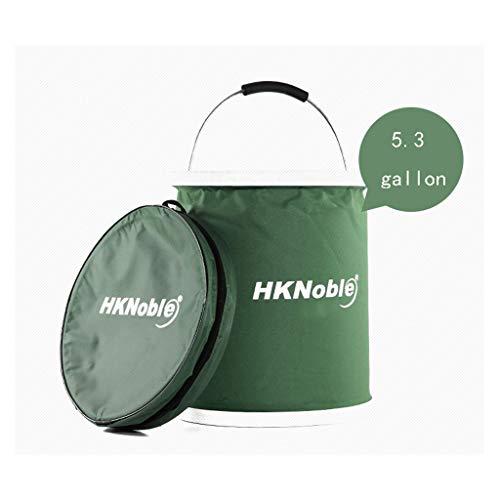 Verbeterde inklapbare kampeeremmer, 20 liter/5,2 gallon voor noodgevallen, compact beweegbaar opvouwbaar waterreservoir, groot voor wandelen, reizen, boottochten en kinderspeelgoed
